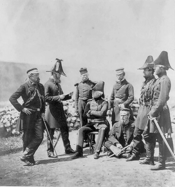 gen-brown-and-staff-crimea-1855-by-roger-fenton